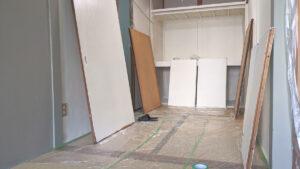 積み上げハウスDIY会での作業風景